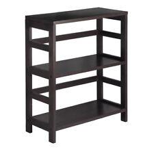 Small 2 Shelf Bookcase Wood Bookshelf Decor Storage Shelving Organizer Brown New