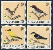 Singapore 605-608,MNH.Michel 636-639. Birds 1991.Common Tailor bird,Oriole,Tora