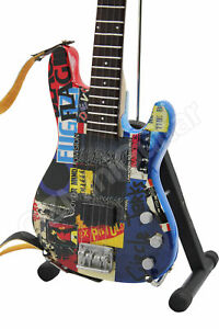 Flea Miniature Guitar Red Hot Chili Peppers Psychedelic Bass & Strap