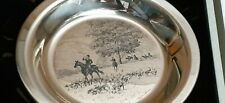 """James Wyeth 1974 """"Riding to the Hunt"""" 3nd Edition Sterling Silver L.E. Plate"""