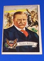 1956 Topps U.S. Presidents Theodore Roosevelt Card #28