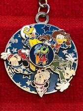 2014 DISNEY SPINNING CHARACTERS KEY CHAIN-RARE