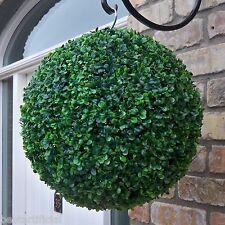 Best Artificial 38cm Verde Boxwood Buxus Bola Topiaria Colgante Hierba Cesto New