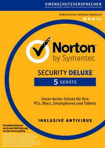NORTON Security Deluxe 2021 - 5 Geräte - 1/2/3 Jahre (ESD) Internet Security DE