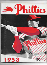 1953 PHILADELPHIA PHILLIES YEARBOOK NEAR MINT 5TH ISSUE