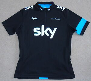 """EXCELLENT CONDITION TEAM SKY SUPPORTERS JERSEY. RAPHA LARGE 44"""" CIRCUMFERENCE"""