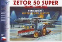 Modellbau Kunststoff Modellbausatz Traktor ZETOR 50 SUPER Winterdienst SDV 1:87