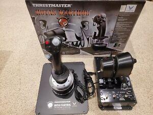 Thrustmaster Hotas Warthog Flight Stick Joystick and Throttle for PC - Black