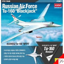 Academy 1/144 Russian Air Force Tu-160 Blackjack Hobby Plastic Model kit #12621