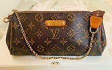Louis Vuitton Eva Crossbody Clutch Monogram Canvas with Chain Strap AUTHENTIC