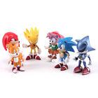 "Top Sonic The HEDGEHOG Characters PVC 2.2"" Figure Set Playing Games Model 6pcs"