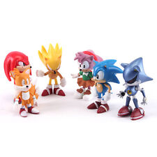 "Top Sonic The HEDGEHOG Characters PVC 2.2"" Figure Set Playing Games Model 6pcs"