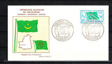 Mauritanie  enveloppe 1er jour  union  Africaine et Malgache    1962