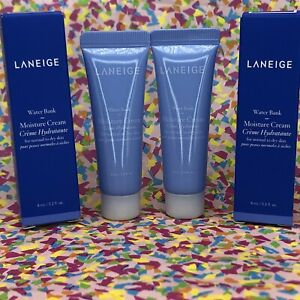 2x LANEIGE Water Bank Moisture Cream Normal to Dry NEW .2 oz / 8 mL FREE SHIP
