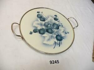9245. Altes Keramik Kuchen Tablett Tortenplatte Kuchenplatte