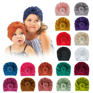 Kids Baby Girl Infant Beanie Hat Bow Knot Turban Cap Newborn Head Wraps Headband