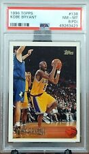 1996 Topps KOBE BRYANT Los Angeles Lakers Rookie RC Card 138 Graded PSA 8 PD
