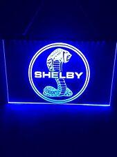Mustang Cobra Blue Led Light Sign Game Room , Bar , garage Sign