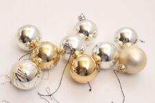 9 boules de noël boules de Noël sapin de noël boules argent différentes motifs