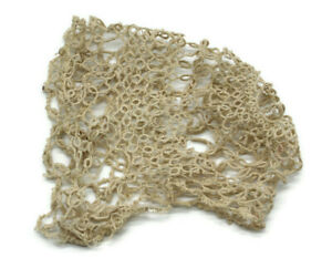 Antique Handmade Tatting Baby Bonnet Lace Doll Lovely Toddler Repair AS IS