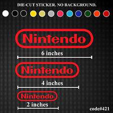 Nintendo Vinyl Sticker Decal Funny JDM Kit Set Game Console Logo DS Wii U Retro