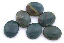 ONE 10x8 10mm x 8mm Flat Oval Bloodstone Cab Cabochon Gem Stone Gemstone BC2