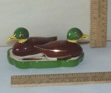 Mallard Duck shape Salt and Pepper Shaker Set - Poinsettia Studios California