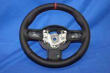 ORIGINAL  LEDERLENKRAD MINI Cooper One R50 R52 R53 12 UHR NEU BEZOGEN MI3