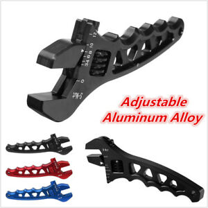 Black AN Adjustable Aluminum Alloy Oil Fitting Wrench Tool for AN 3 4 6 8 10 12