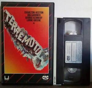 VHS FILM Ita Drammatico TERREMOTO Charlton Heston Ava Gardner ex nolo (V20)