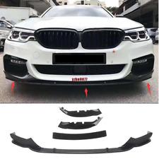 2017-2018 For BMW 5 Series G30 MP Style Mirror Black Front Bumper Lip Spoiler x3