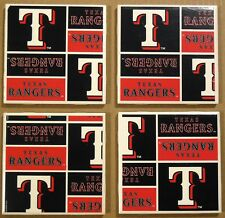 Coasters Sets Texas Rangers Cup Holders Bar Drinks Sports Handmade Gifts Decor