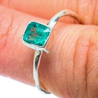 Zambian Emerald 925 Sterling Silver Ring Size 7.25 Ana Co Jewelry R35991F