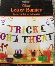 Halloween Glitter Letter Banner-Trick or Treat, Party Decoration, NIP