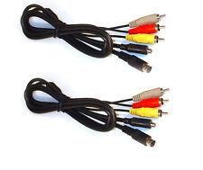 2X AV Cables for Sony DCR-HC53 DCR-HC54 DCR-HC65 DCR-HC85 DCR-HC90 DCR-HC94 HC96
