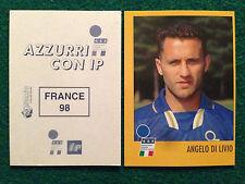 AZZURRI CON IP 1998 98 FRANCE 98 ANGELO DI LIVIO Figurina Sticker Merlin New
