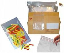 LOT DE 100 SACHETS TRANSPARENT ZIP PLASTIQUE 10 x 15 CM