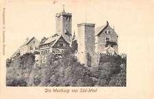 Wartburg Germany Historic Bldg Castle Scenic Antique Postcard K22290