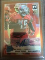 2019 Optic Bronze Prizm #192 DEVIN WHITE Rated Rookie SP Auto LSU Autograph RC