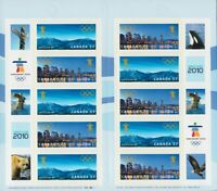 VANCOUVER OLYMPIC = BOOKLET OF 10 WITH SEALES MNH Canada 2010 #2368a
