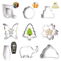 Stainless Steel Biscuit Pastry Cookie Cutter Fondant Cake Decor Mold Tool NEW