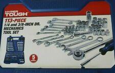 "*NIB* HYPER TOUGH 113-Piece Mechanics Tool Set 1/4"" & 3/8"" Drive (Metric & SAE)"