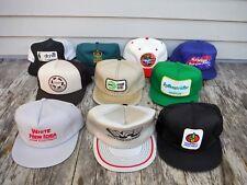 LOT OF 10 VINTAGE SNAPBACK TRUCKER STYLE HAT HATS FARM CASE IH MESH SEED WHITE