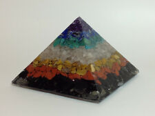Orgonita Pirámide Chakra, tamaño mediano, peso 750g