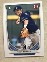 2014 BOWMAN PROSPECTs PAPER TREA TURNER ROOKIE CARD #10 NATIONALS Padres