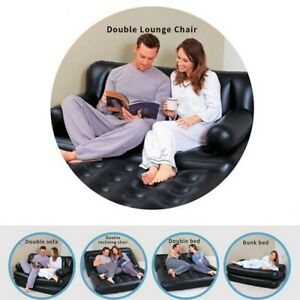 Inflatable Sofa Air Mattress Double Couch Lounger Sleeping Blow Up Living Room