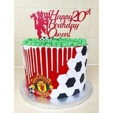 Remarkable Manchester United Birthday In Cake Toppers For Sale Ebay Birthday Cards Printable Nowaargucafe Filternl
