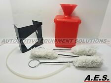 Tire Lube Bottle with Mounting Bracket and Swabs, Red