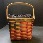 BRADFORD BASKET COMPANY 1998 Square Flag Basket With Swing Handle Star Liner 🎇