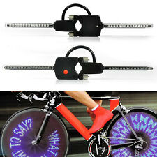 PC Programmable Wireless LED Custom Message Bike Cycle Motor Wheel Lights Excell